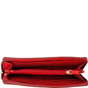 Stitch Zip Around Leather Wallet
