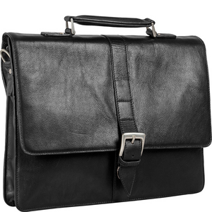 "Hudson Large 15"" Laptop Compatible Leather Briefcase"