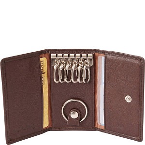 Cashmere Six Hook Key Case with Valet