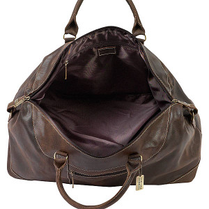 Artic Distressed Leather Duffle