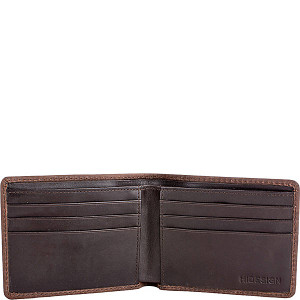 Camel Stitch RFID Blocking Bifold Leather Wallet