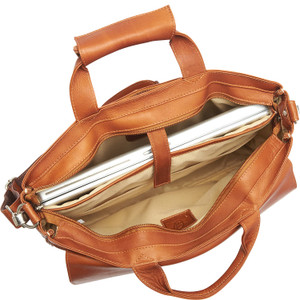 Top-Zip Laptop Brief Tote