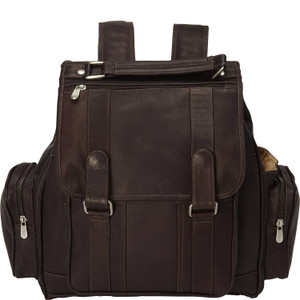 Double Loop Flap-Over Laptop Backpack