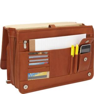 Two-Section Expandable Laptop Portfolio