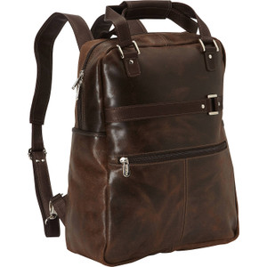 Vintage Laptop Carry-All/Convertible Backpack