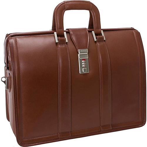 "Morgan Leather 17"" Litigator Laptop Brief"