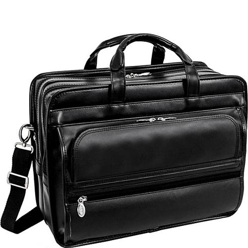 "P Series Franklin Leather 17"" Detachable Wheeled Laptop Case"