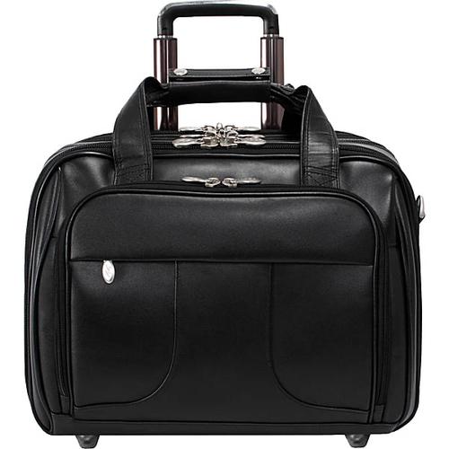 """Chicago Leather Wheeled 15.6"""" Laptop Case"""