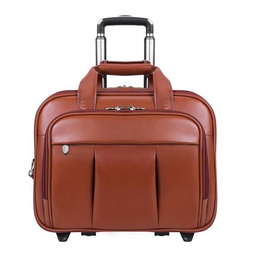 "Damen Leather Wheeled 17"" Laptop Case"