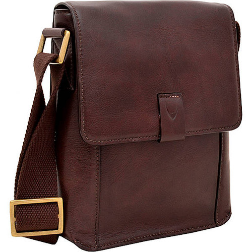 Aiden Small Leather Messenger Crossbody Bag
