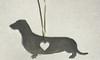 Love Heart Dachshund Ornament