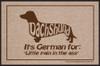 Pain in the... Dachshund Doormat