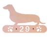 Personalized Dachshund Address Sign
