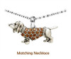 Rhinestone Dachshund Bracelet