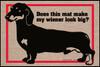 Wiener Look Big Dachshund Doormat
