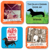 Funny Dachshund Drink Coasters (Set of 4)