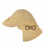 Personalized Maple Wood Dachshund Head Cutting Board