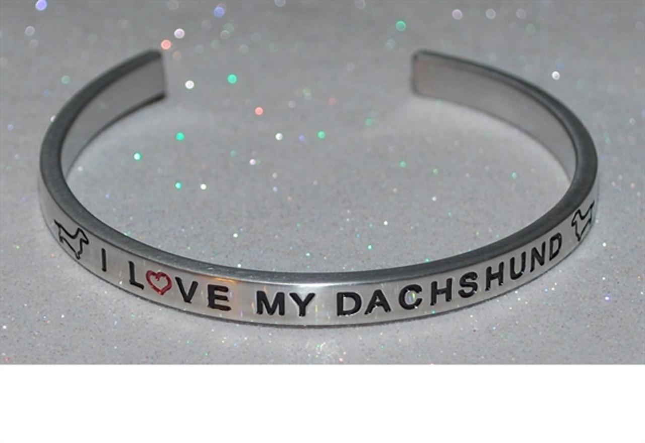 Engraved Dachshund Bracelet