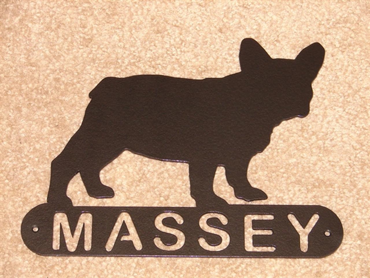 French Bulldog Address Sign