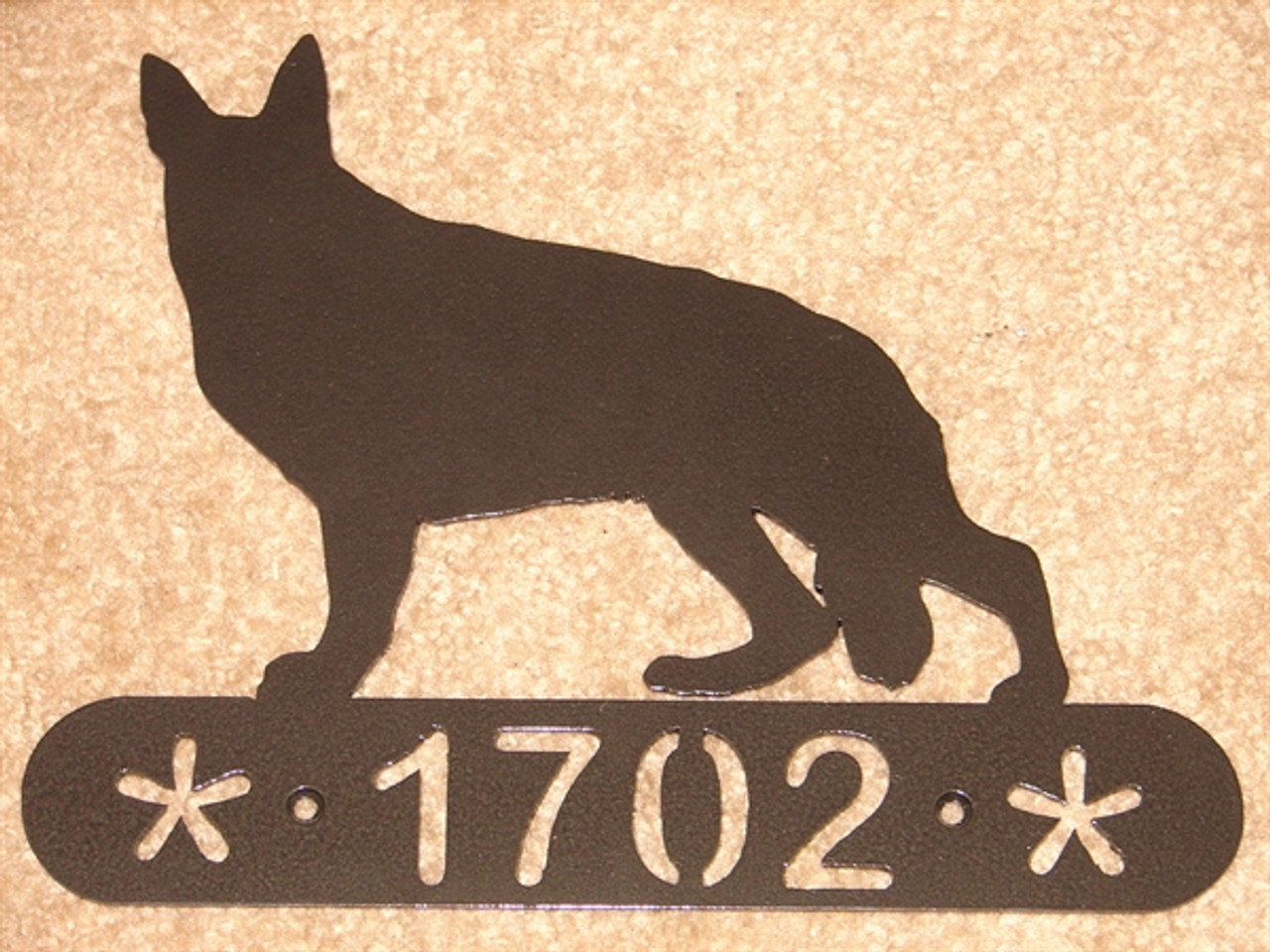 German Shepherd Address Sign