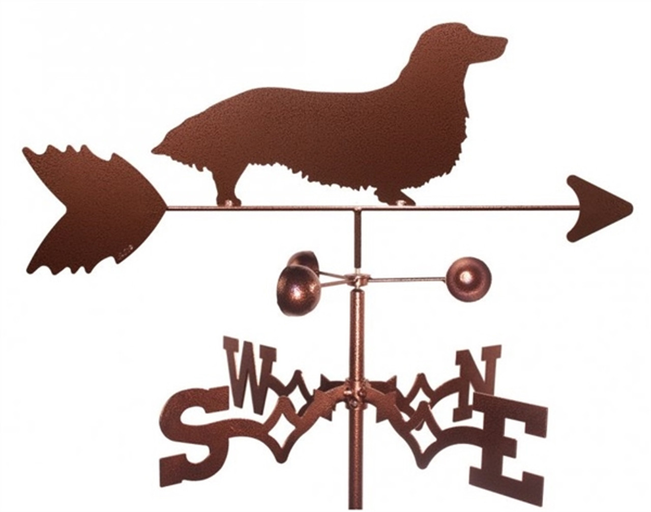 Long-haired Dachshund Weathervane
