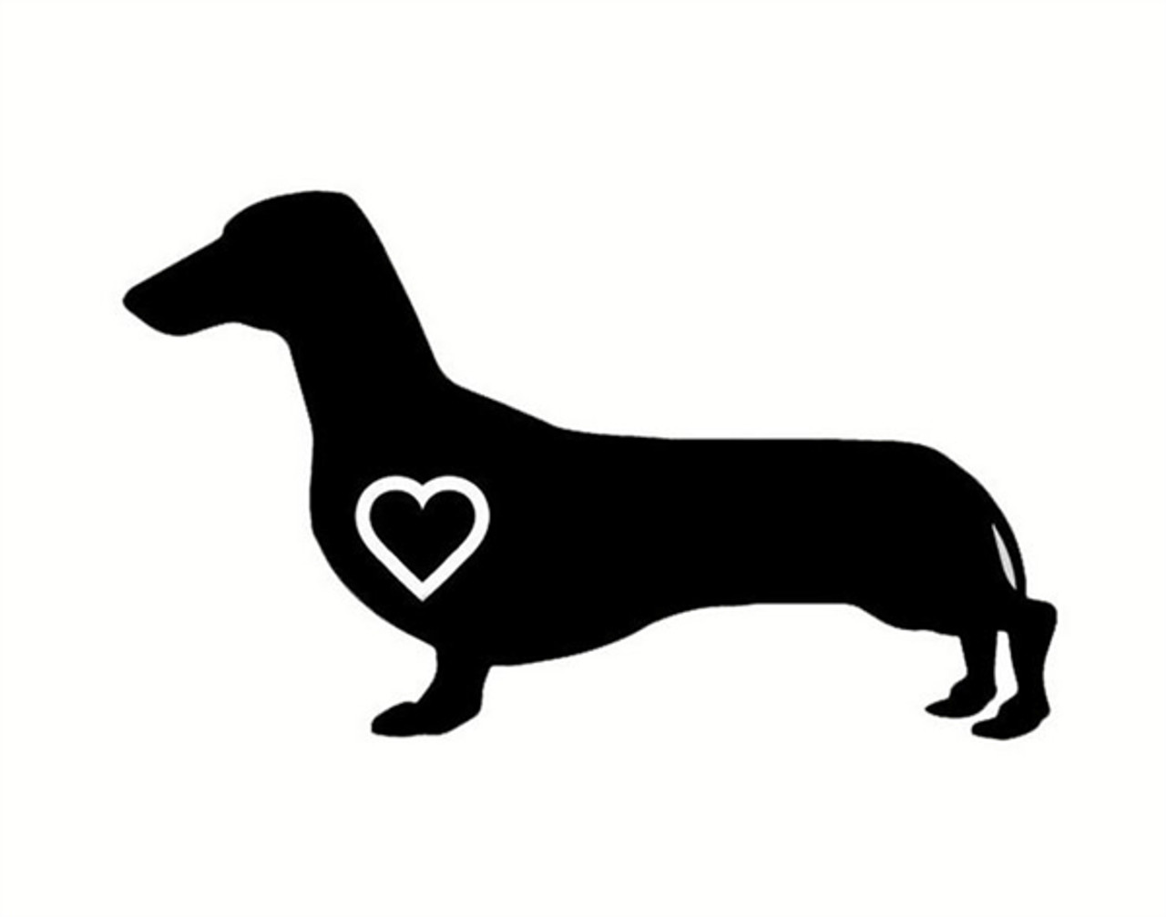 Love Dachshund Window Decal