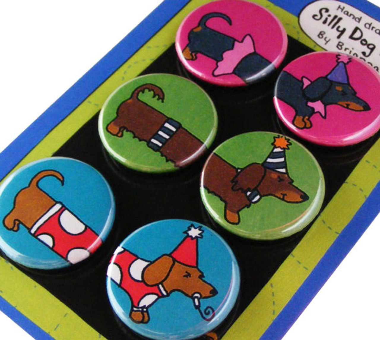Silly Dachshund Magnets
