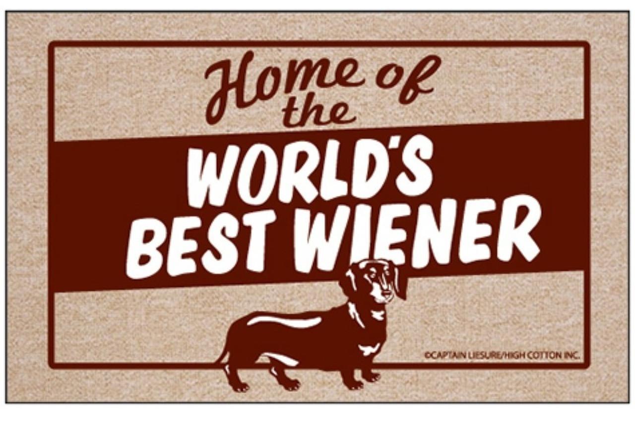 Worlds Best Wiener Doormat