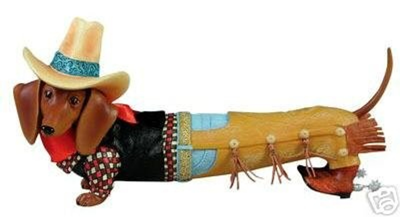 Cowboy Dachshund Figurine (RARE)