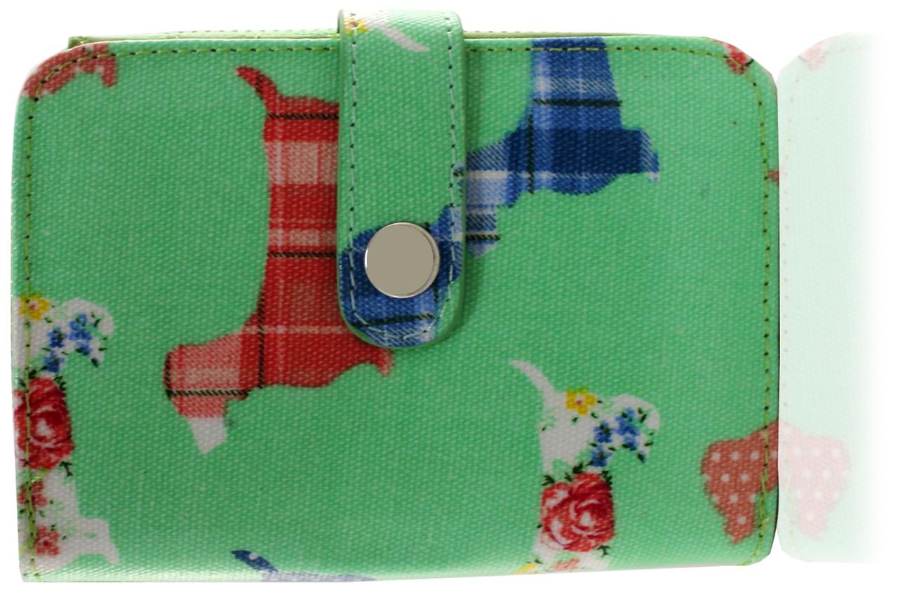 Dachshund Ladies Wallet (Green - Large)