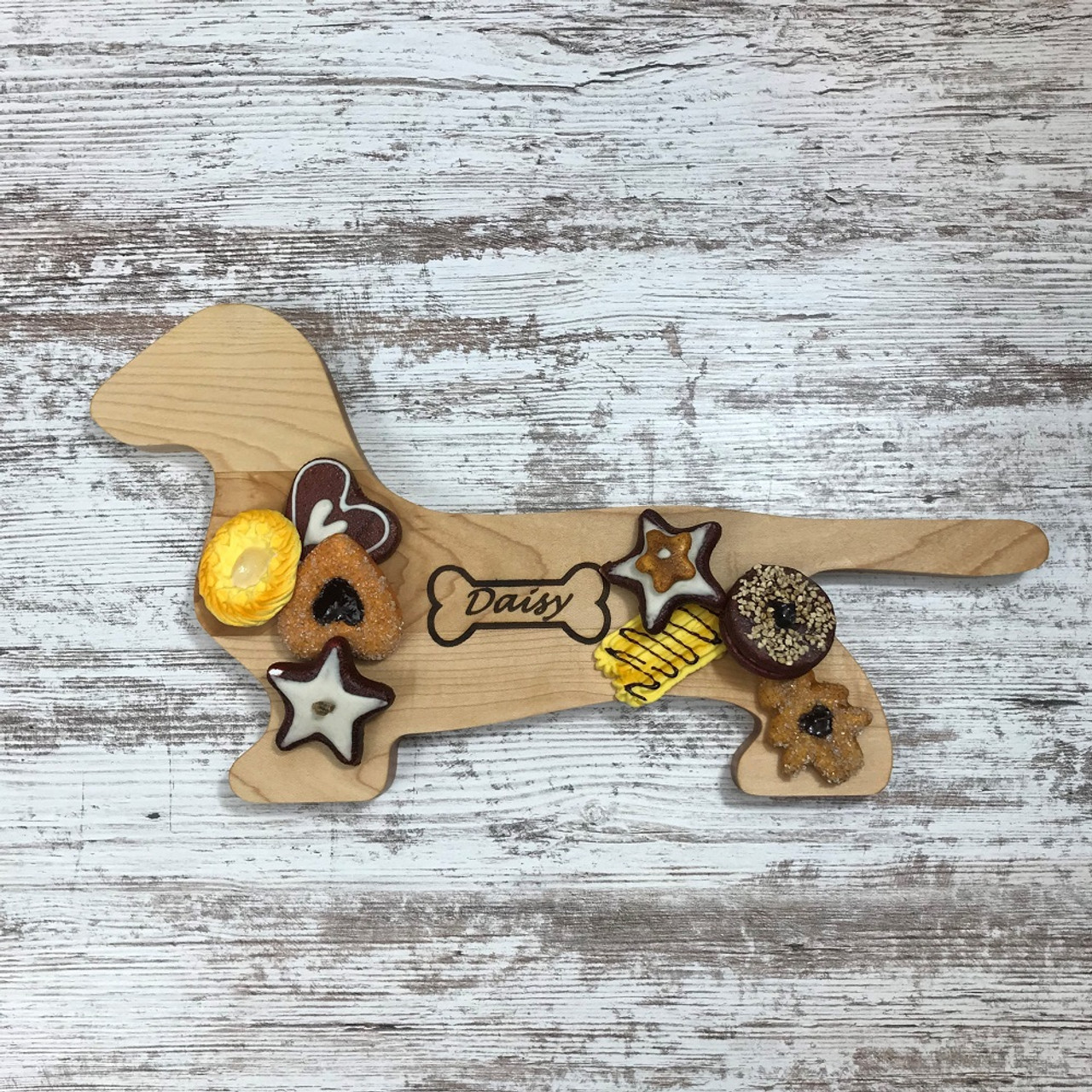 Personalized Maple Wood Dachshund Cutting Board