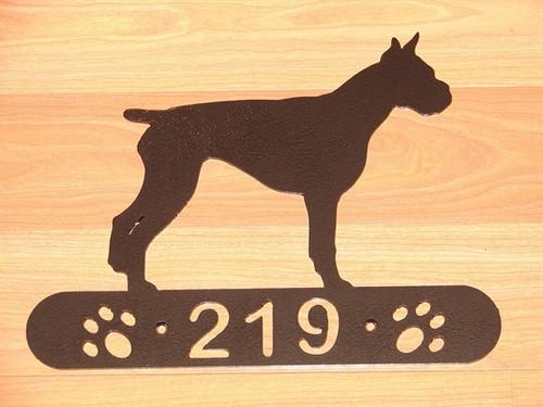 Boxer Address Sign