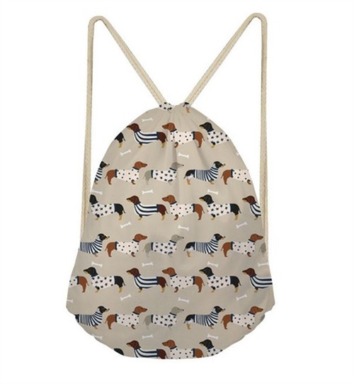 Dachshund Drawstring Sack Backpack