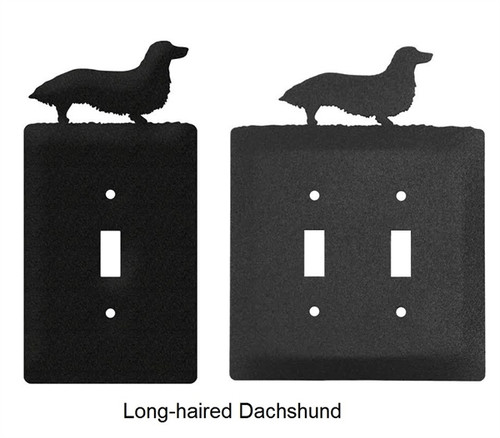 Long-haired Dachshund Light Switch Cover