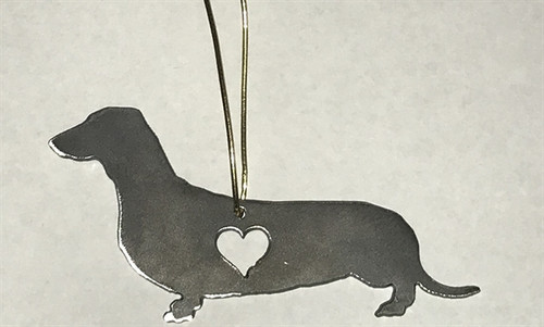 Love Heart Dachshund Ornament
