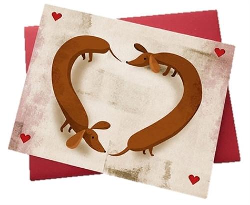 Valentines Day Dachshund Card