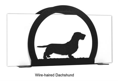 Wire-haired Dachshund Letter & Napkin Holder