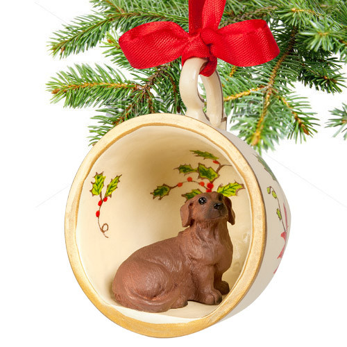 Dachshund Teacup Ornament