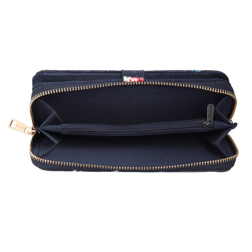 Dachshund Ladies Wallet (Dark Blue - Large)