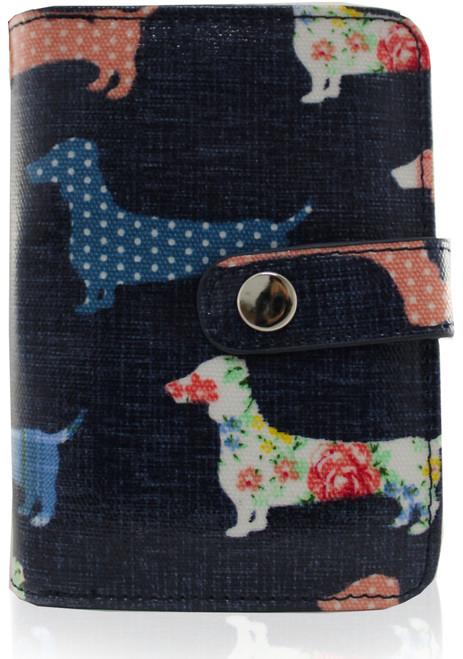 Dachshund Ladies Wallet (Dark Blue - Small)