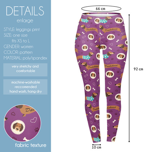 Purple Dachshund Leggings