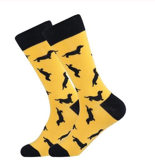 Silhouette Dachshund Socks