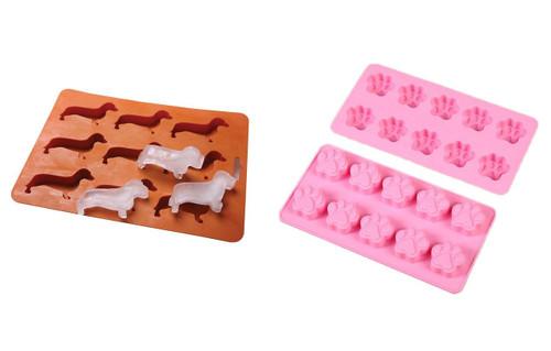 Dachshund Ice Cube Tray & Paw Mold Set