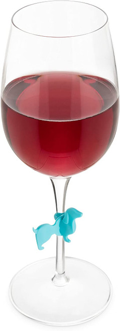 Dachshund Glass Markers Wine Charms