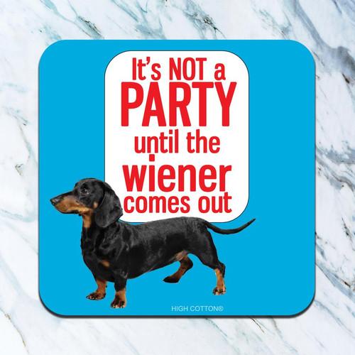 Wiener Party Drink Coaster