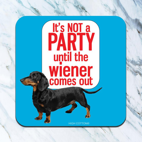 Wiener Party Drink Coaster