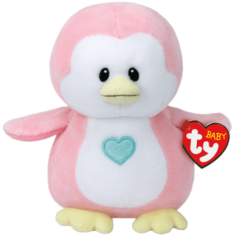 Baby TY - Small Penny the Pink Penguin