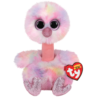TY Beanie Boo - Small Pink & Purple Avery the Ostrich