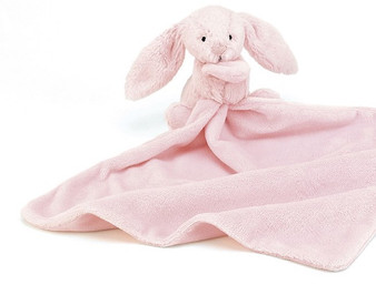 Jellycat Bashful Pink Bunny Soother / Comfort Blanket