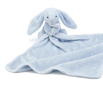 Jellycat Bashful Blue Bunny Soother / Comfort Blanket
